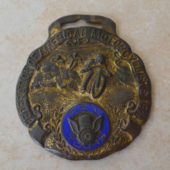 1914 FAM Motorcycle Tour Watch Fob.  - Pocket Watches