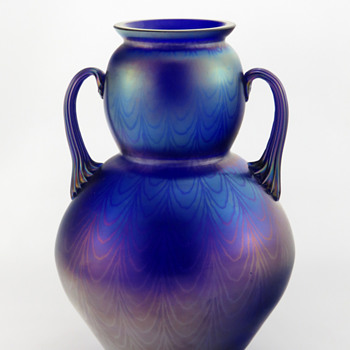 Schliersee PN 109 Handled Vase ca. 1905 - Art Glass
