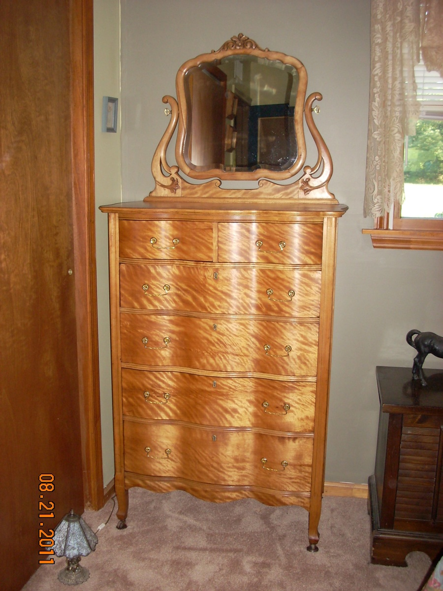 W.B. Moses U0026 Sons Tiger Maple Chest Of Drawers C.1903 | Collectors Weekly