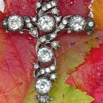 Victorian paste cross brooch - Fine Jewelry