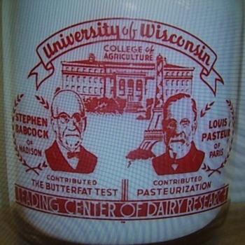 UNIVERSITY OF WISCONSIN MILK BOTTLE - Bottles