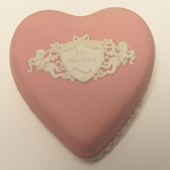 Wedgwood Jasperware Pink Valentines Box - China and Dinnerware