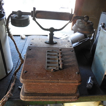 Rare old oak switch board phone? - Telephones