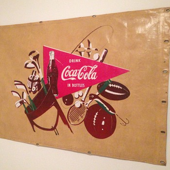 1950's Coca-Cola Canvas Truck Banner - Coca-Cola