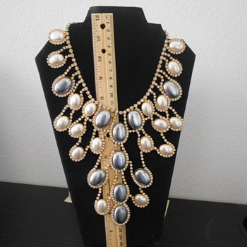 Vintage Kenneth Lane Bib necklace and earrings