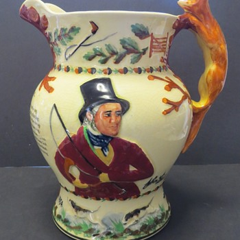 "Crown Devon Fieldings ""John Peel"" Musical Jug - Pottery"