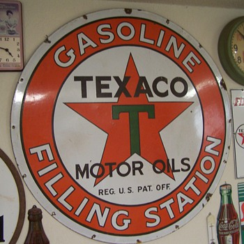 Texaco Gasoline Filling Station - Petroliana