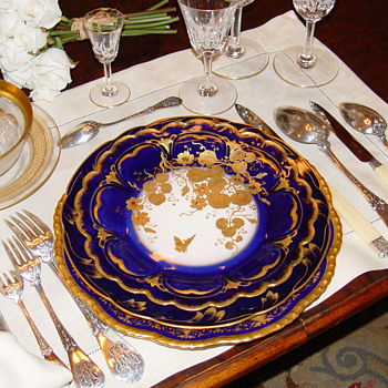 Holiday tables - Antique French sterling silver and fine china - Silver