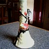 "Japanese ""Yankoware"" Basket Weave Bud Vase / Little Bird on a Branch /Circa 1950-60"