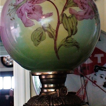 """Gone With The Wind"" Antique Oil Lamp Electric Conversion - Lamps"