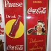 1940 vertical Coke pause Sign