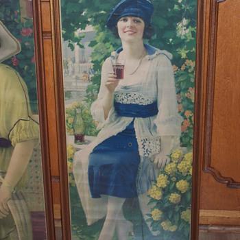 Coca Cola Girls Calendars 1920 and 1921