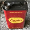 Gasoline metal can.