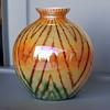 Kralik herringbone iridescence ball vase