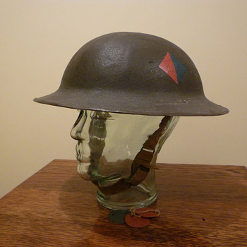 British WWI steel helmet, re issued WWII