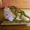 1933 Sisyphus Clock with Sabino Glass clock.