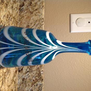 Need info help old art glass liquor decanter bottle French?  - Art Glass