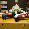 SURVIVED....My three actual pinewood derby cars.......