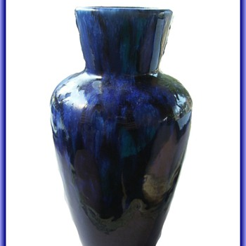 West German Pottery -- Blue Vase - Pottery