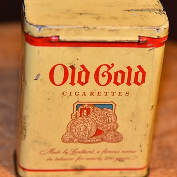 Old Gold Cigarette Tin - Advertising