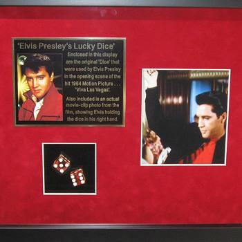 Elvis Presley . . . . 'Lucky Dice' - Music Memorabilia