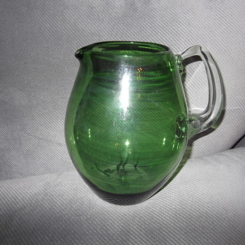 Glass Pitcher with applied handle - Glassware