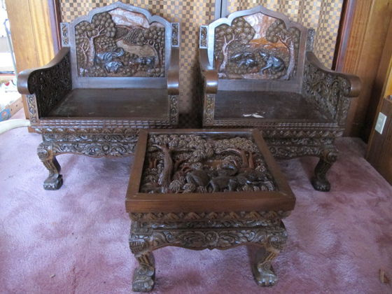 Thailand/Vietnamese Hand Carved Living Room Set 1920u0027s? | Collectors Weekly