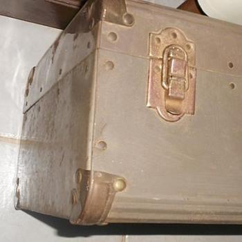 1940's Sheet Metal Suitcase - Trunk