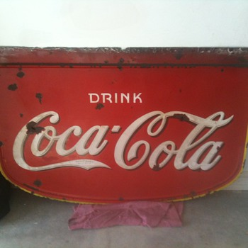 1930's Coke Porcelain Side - Double Sided