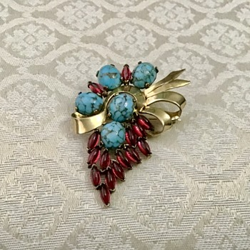 Marcel Boucher brooch - Costume Jewelry