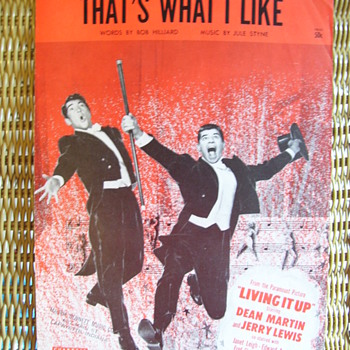 "DEAN & JERRY, MOVIE  ""LIVING IT UP""   REALLY GREAT COVER!I   WISH IT WAS THE 1950s AGAIN! - Music Memorabilia"
