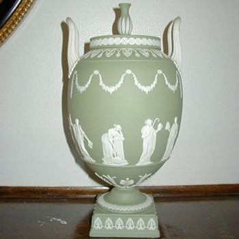 Green and White Wedgwood Jasperware