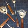 fancy wood handled 4pc. set of bar tools, +1
