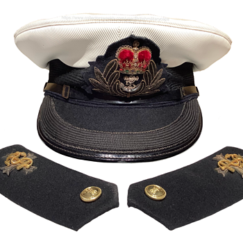 Vintage British Royal Navy Chaplain's headdress - Military and Wartime