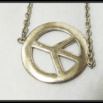 A Sterling Silver ** PEACE ** Bracelet - Fine Jewelry
