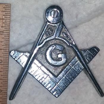 Masonic Lodge, desk ornament or trophy top emblem? - Medals Pins and Badges