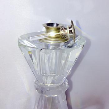 Vintage? Antique? Tall Crystal Prism Perfume Bottle HELP - Bottles