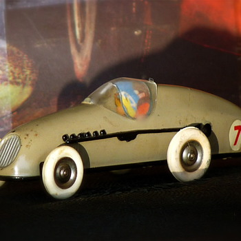Tri-ang Minic Motors Clockwork Tin Toy Model Racer M13 - Model Cars