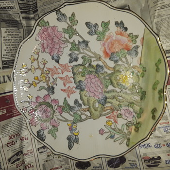Asian antique Chinese or Japanese plate, circa 1900? - Asian