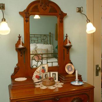 Great Grandmother's Eastlake Vanity - Furniture
