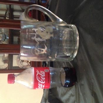 Prohibition era Rubicon glass beer mug