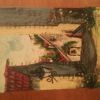 Small unsigned, unframed mexican painting on wooden board