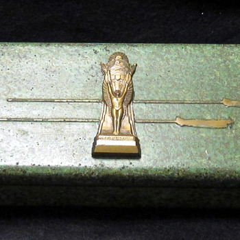 "The Thompson Trophy / Bronze box ""Cleveland National Air Races "" - Art Deco"