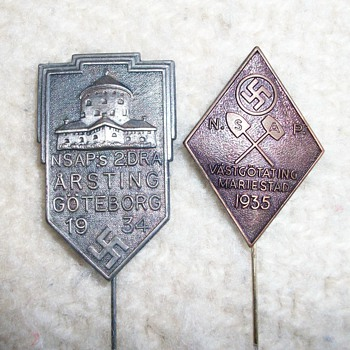 1930's Swedish Pins - Military and Wartime