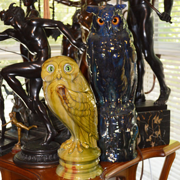 Rambervillers Owl 1900 Paris Exposition - Art Nouveau