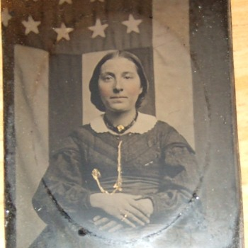 Patriotic Civil War woman - Military and Wartime