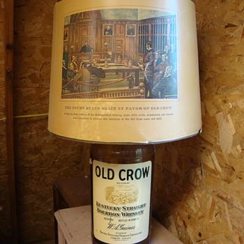Old Crow Whiskey Lamp.... - Bottles