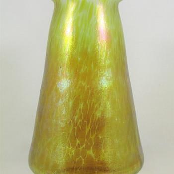 """Loetz Candia Papillon ca. 1898 PN 1-7614 91/4"""" - Art Glass"""