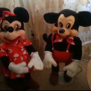 50's/60's mechanical Mickey&Minnie store display - Advertising