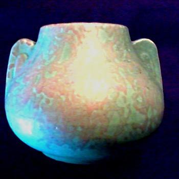"Brush McCoy ""Art Vellum"" Pottery/ Matte Green ""Fawn"" Vase #716 / Circa 1923-30's - Pottery"